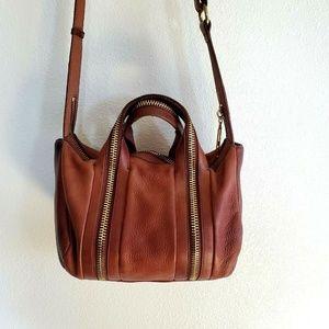 Kelsi Dagger Brooklyn Zipper Handbag Saddle Brown